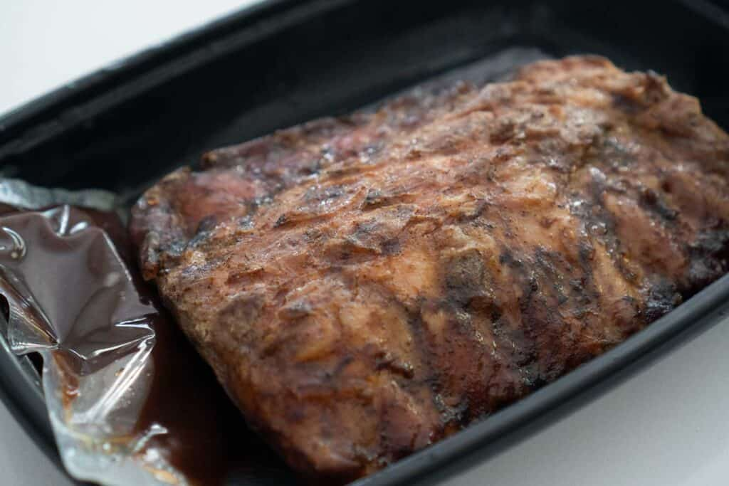 Walmart ribs in plastic container